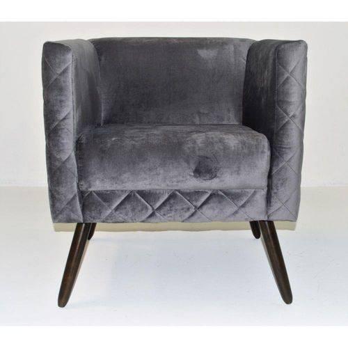 Kit 02 Poltrona Cadeira Decorativa Opala Sala Escritório Suede Preto
