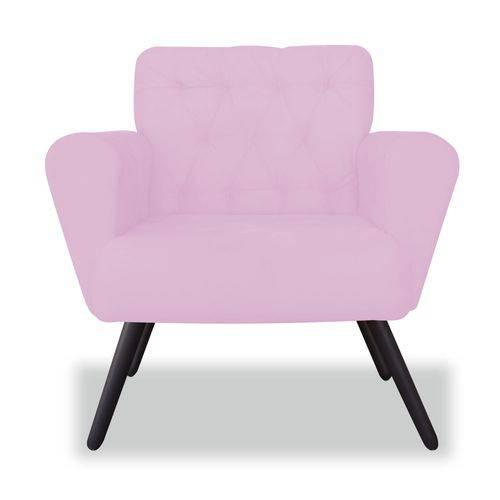 Kit 02 Poltronas Cadeira Eva Sala Quarto Recepção Escritório Consultório Corino Rosa Bebê - AM DECOR