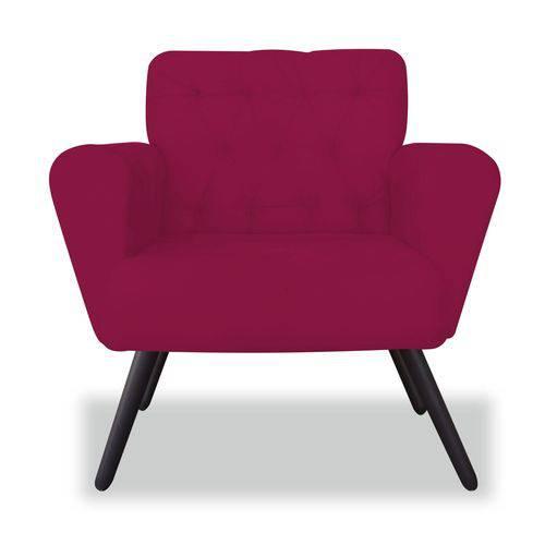 Poltrona Cadeira Eva Sala Quarto Recepção Escritório Consultório Corino Rosa Pink - AM DECOR