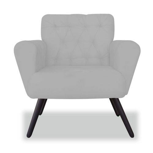 Poltrona Cadeira Eva Sala Quarto Recepção Escritório Consultório Suede Branco Neve - AM DECOR