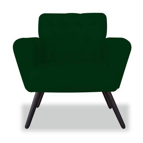 Poltrona Cadeira Eva Sala Quarto Recepção Escritório Consultório Suede Verde Musgo - AM DECOR