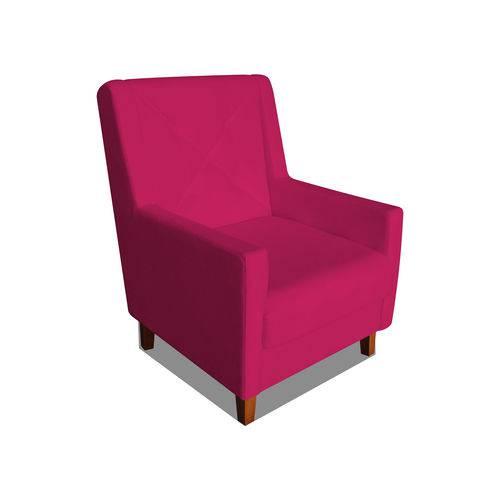 Poltrona Cadeira Mari Sala Quarto Recepção Escritório Consultório Suede Rosa Pink - AM DECOR