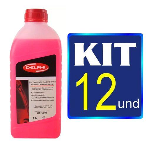 Kit 12 Aditivos Radiador Rosa Concentrado