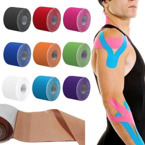 Kit 10 Fita Kinesio Tape Bandagem 5m por 5 Cm