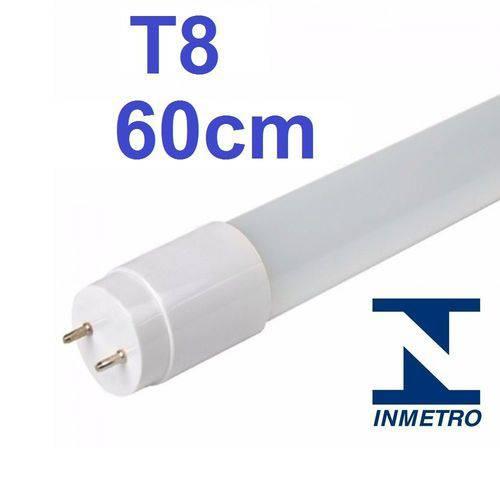 Kit 10 Lâmpada Led Tubular T8 60cm Bivolt G13 6000k Branco Frio 10w