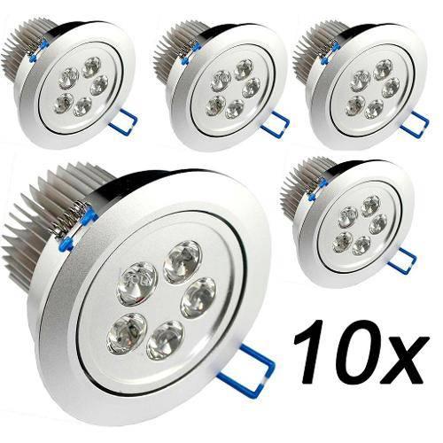 Kit 10 Lâmpada Spot Super Led Direcionável 7w P/ Teto Sanca