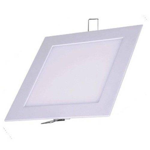 Kit 10 Luminaria Plafon Quadrado 18w Embutir Led Branco Frio