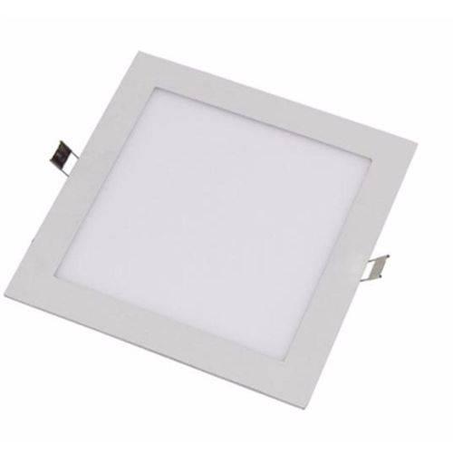 Painel Plafon Led Embutir Quadrado 18w Luminária - Branco Frio