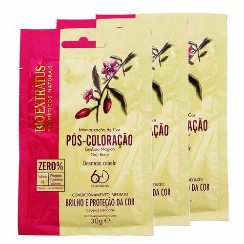 Kit 10 Sachês Memorização da Cor Pós Coloração Goji Berry 30g - Bio Extratus