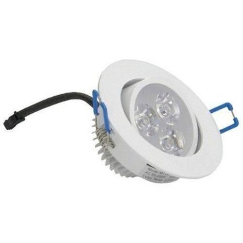 Kit 10 Spot Super Led 3w Lâmpada Direcionável Sanca Gesso Frio