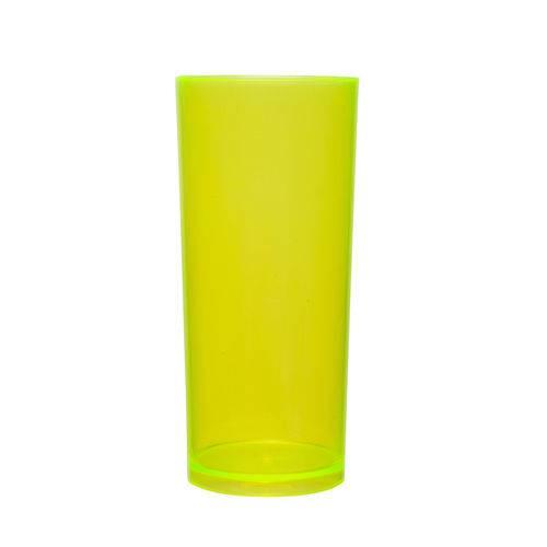 Kit 100 Copos Long Drink 370ml Amarelo Neon