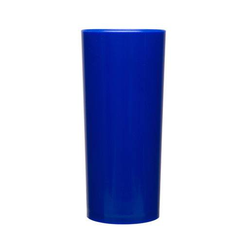 KIT 100 Copos Long Drink 370ml Azul Royal
