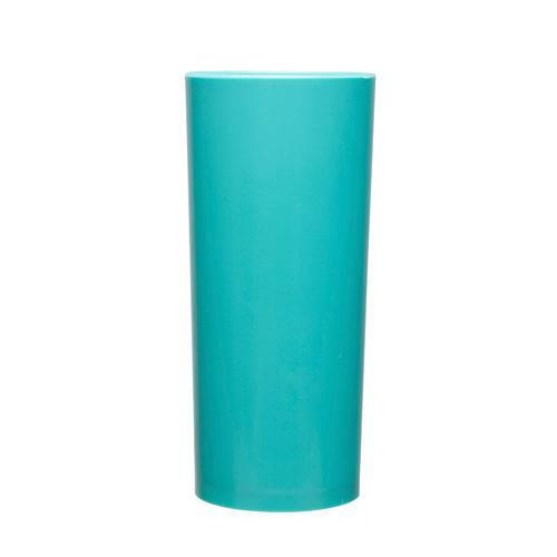 KIT 100 Copos Long Drink 370ml Azul Tiffany