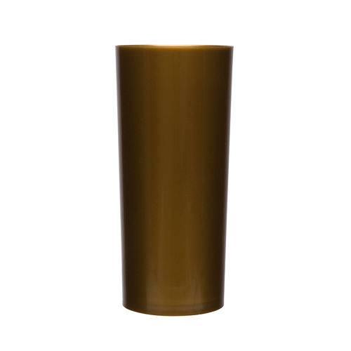 KIT 100 Copos Long Drink 370ml Dourado
