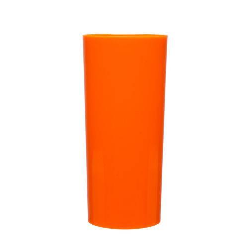 KIT 100 Copos Long Drink 370ml Laranja Fluorescente