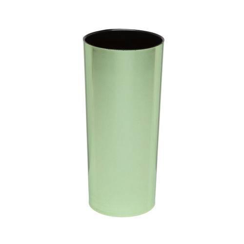KIT 50 Copos Long Drink Metalizado Verde com Interior Preto