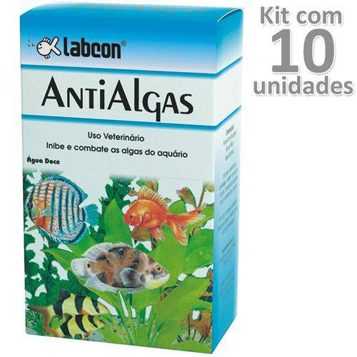 Kit 10un Alcon Antialgas Labco Test Aquário Água Doce 15ml