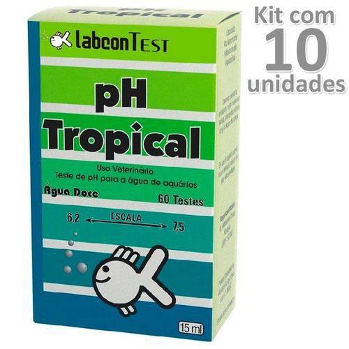 Kit 10un Alcon Ph Tropical Labco Test Aquário Água Doce 15ml