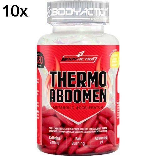 Kit 10X Thermo Abdomen - 120 Tabletes - BodyAction