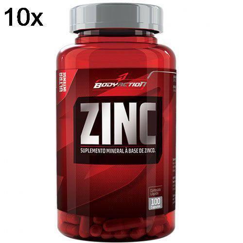Kit 10X Zinc - 100 Cápsulas - BodyAction