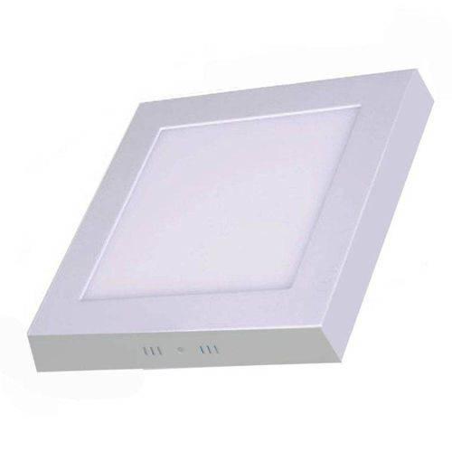 Plafon 25w Luminaria Sobrepor Led Branco Frio Quadrado