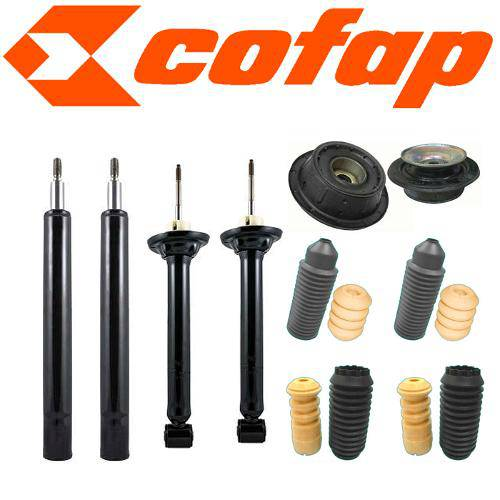 Kit 4 Amortecedores Gol G2 + Coxins + Kits (Batentes e Coifas)