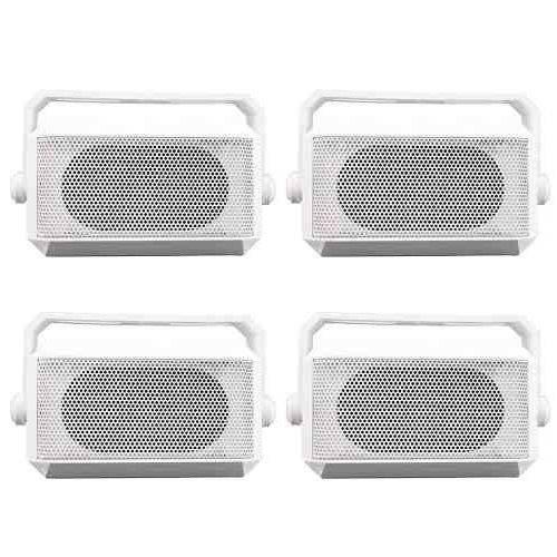 Kit 4 Caixa de Som Acústica Ebl Potência 11w Rms - Branca