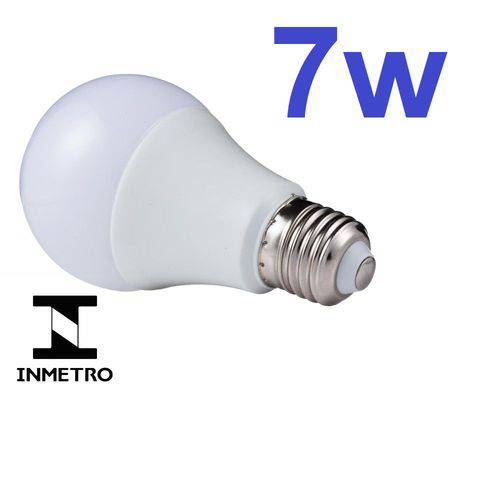 Lâmpada Led Bulbo E27 Bivolt 6000k Branco Frio 7w