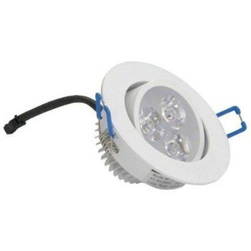 Kit 4 Spot Led 5w Lampada Redondo Dicroica Direcionavel Sanca Gesso