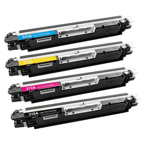 Kit 4 Toner HP CE 310 311 312 313 126A - CP1025 M175 M176
