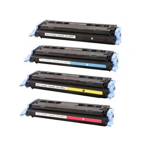 Kit 4 Toners Similares Hp 124A Compatível Hp 2600n 2605dn 2605dtn Cm1015 Cm1017