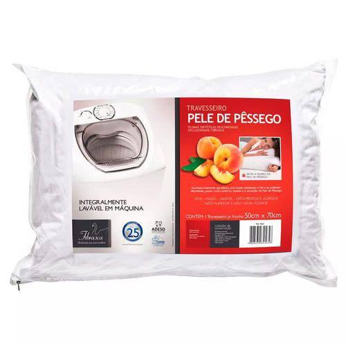 Kit 4 Travesseiros Pele de Pêssego Lavável Poliéster Fibrasca 4565