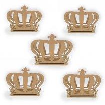 Kit 5 Peças Porta Guardanapos de Coroa em Mdf - PG130