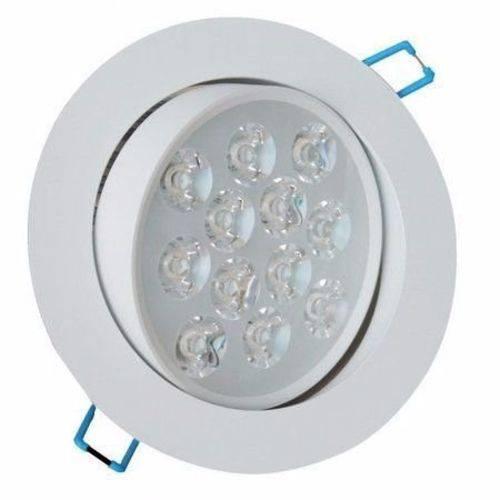 Kit 5 Spot Redondo Led 12w Lampada Dicroica Direcionavel