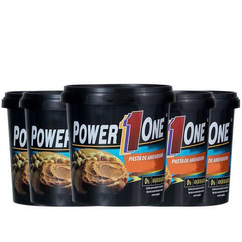 Kit 5 Un Pasta de Amendoim Power One 1kg Integral