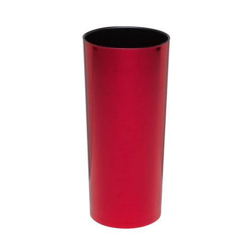 KIT 50 Copos Long Drink Metalizado Vermelho com Preto