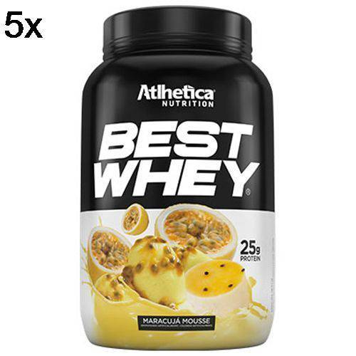 Kit 5X Best Whey - 900g Mousse de Maracujá - Atlhetica Nutrition