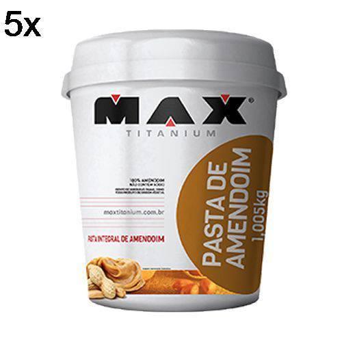 Kit 5X Pasta Integral de Amendoim - 1005g - Max Titanium