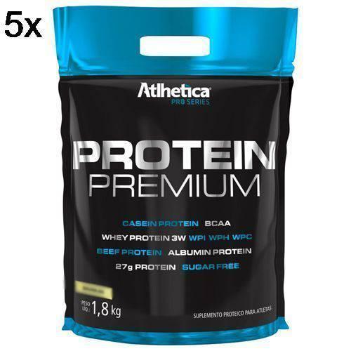 Kit 5X Protein Premium Pro Series - 1800g Refil Baunilha - Atlhetica Nutrition