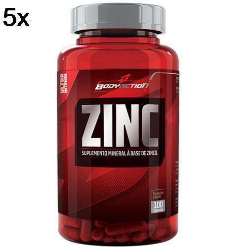 Kit 5X Zinc - 100 Cápsulas - BodyAction