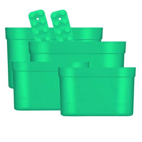 Kit 6 Organizadores Loft Up Coza Facilita Verde