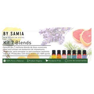 Kit 7 Blends de Óleos Essenciais By Samia Kit