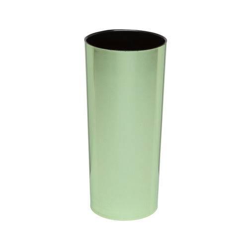 KIT 75 Copos Long Drink Metalizado Verde com Interior Preto