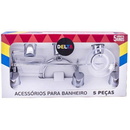 KIT ACESSÓRIOS DELTA CR/CRISTAL 5PÇS Aquaplás