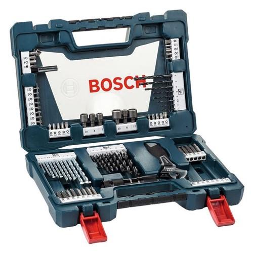 Kit Acessórios V-Line com 83 Peças Bosch Azul