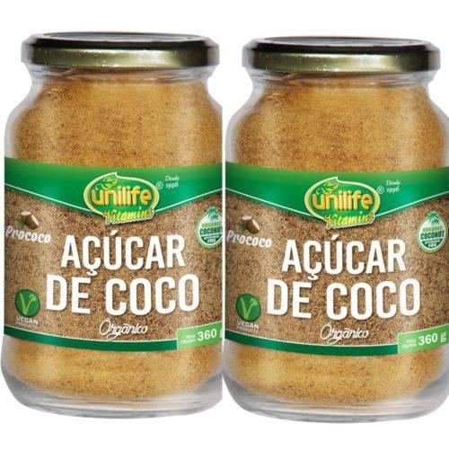 Kit 2 Açúcar de Coco Orgânico 720g Unilife
