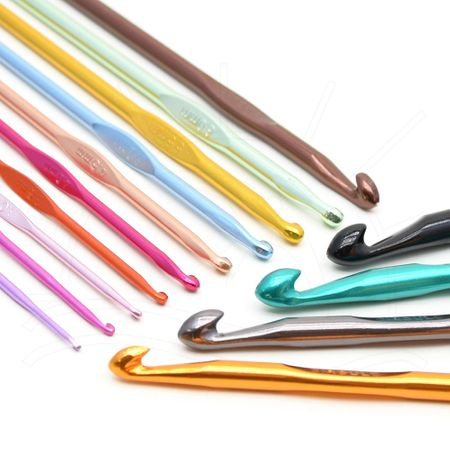 Kit Agulha para Crochê Color Círculo - 14 Agulhas