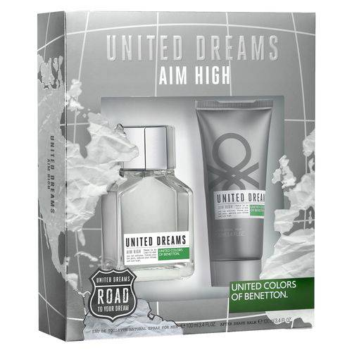 Kit Aim High Masculino Edt 100ml e Bálsamo Pós-Barba 100ml
