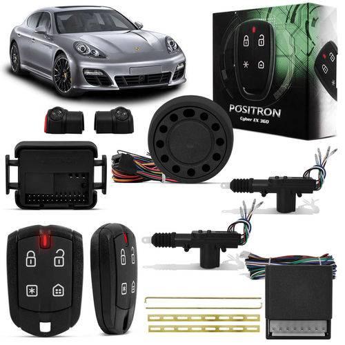 Kit Alarme para Carro Pósitron Cyber Ex360 Universa + Trava Elétrica 2 Portas Dupla Serventia