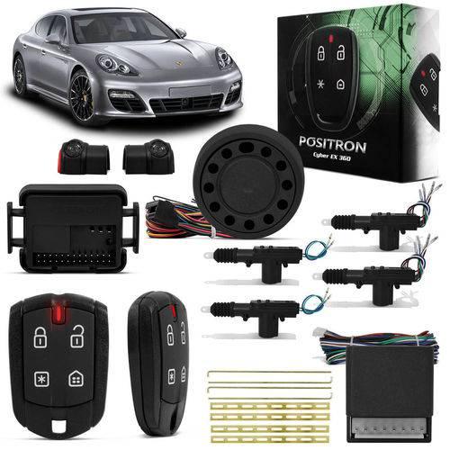 Kit Alarme para Carro Pósitron Cyber Ex360 Universal + Trava Elétrica 4 Portas Dupla Serventia